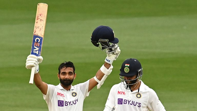 India build lead over Aussies with Rahane ton