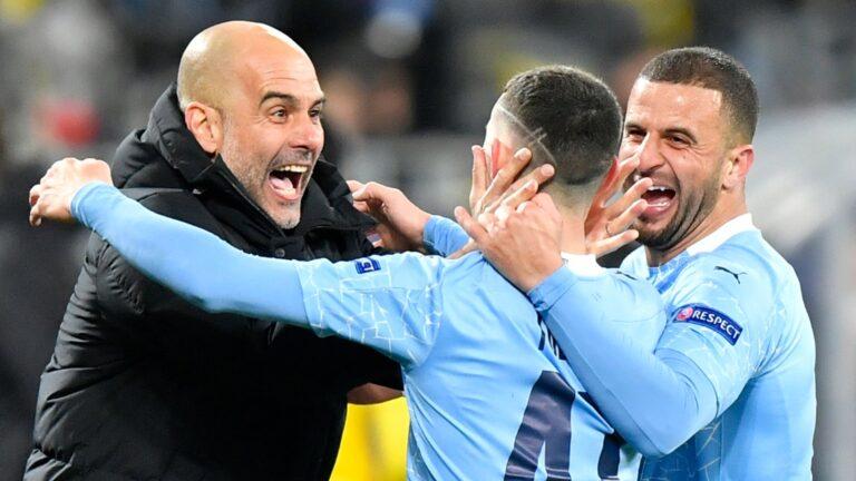 Man City survive Dortmund scare to secure semi-final spot